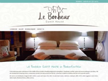 Le Bonheur Guest House<br><a href='http://www.lebonheurguesthouse.co.za' target='_blank'><small>www.lebonheurguesthouse.co.za</small></a>